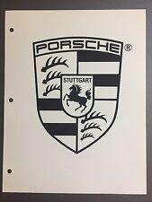 1990 / 1991 Porsche Crest B&W Clip Art -- Picture, Print, Poster RARE!! Awesome