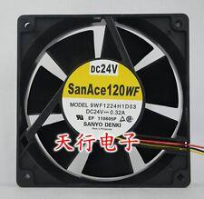 1 PC SANYO 9WF1224H1D03 12038 120*120*38mm Fan 24V 0.32A 3 Pin #K1588 LL