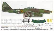 Peddinghaus 1/48 Me 262 A-1a Markings ISS 1./JV 44 Lechfeld April 1945 WWII 1916