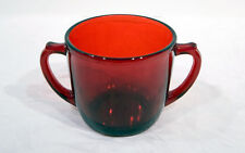 Anchor Hocking Royal Ruby Red Flat Bottom Sugar Bowl