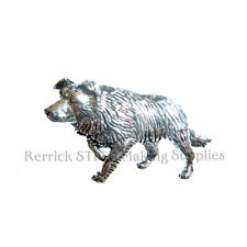 ONE PEWTER BADGE FOR WALKING STICK MAKING BORDER COLLIE