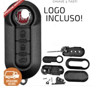Chiave Telecomando Guscio tasti compatibile per FIAT 500L PUNTO EVO PANDA +logo