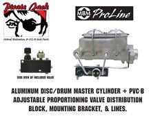 Aluminum Master Cylinder & Adjustable Proportioning Valve / Distribution Block