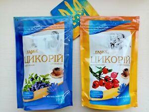 instant Chicory rosehip and blueberry SET - 2x100g caffeine free drink цикорий