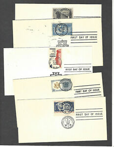 """LOT OF 15 ALL DIFFERENT SOTN """"BULLSEYE"""" CANCEL FDCS ON CARD"""