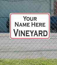 Custom Name VINEYARD Metal Sign for Garage Man Cave Home Bar Office
