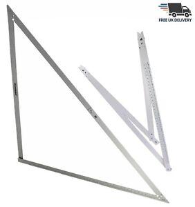 "Aluminium 48"" Folding Builders Angle Floor Square Measuring Ruler & Storage Bag"