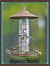New HIATT Belle Fleur SQUIRREL PROOF Grande BIRDFEEDER Birds Love It! METAL ROOF