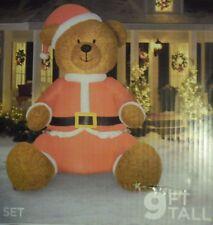 SANTA CLAUS TEDDY BEAR 9FOOT Christmas INFLATABLE LIGHT UP