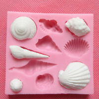 3D Shell Silicone Fondant Mold Chocolate Cake Candy Decorating Baking Mould Tool
