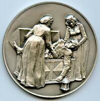 Italy Giovanni Boccaccio DECAMERON Silver Art Medal 50mm 52g