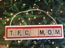 TFC MOM Toronto FC Soccer Canada Christmas Ornament Scrabble Tile