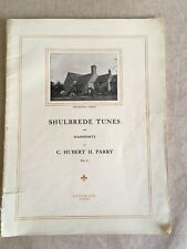 C. Hubert Parry Shulbrede Tunes for Piano  sheet music