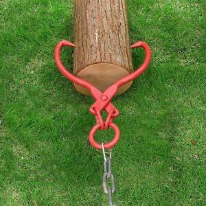 Skidding Tongs with Ring Red 16 Inch Steel Log Lifting Dragging Log Tongs