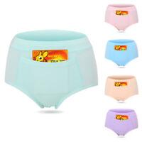 New Women Bamboo Fiber Menstrual Period Panties High Waist Underwear Soft Casual