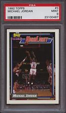 1992 Topps 3 Michael Jordan PSA 9 Mint Bulls UNC Tarheels