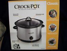 New!  Crock-Pot * The Original Slow Cooker * Classic 4.5Qt SCR450-S