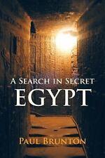 Excellent, A Search in Secret Egypt, Brunton, Paul, Book