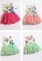 Baby Girls Dress Skirt Tutu Toddler Kids Clothes Christmas Gift Party Costume