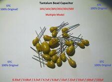 20Pcs - Radial Tantalum capacitor-condensatore tantalio - 100uF 20V - STC (NEW)