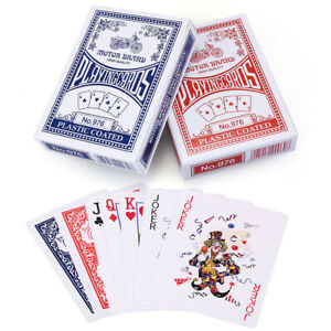 8 Decks Sealed US Standard Poker Size Playing Cards Plastic Coated Card Blue/Red