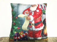 Simple painting Santa Claus Home Decor sofa car Cushion Covers Pillow Case