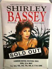 HUGE SUBWAY UK CONCERT Poster SHIRLEY BASSEY Londen 007 DIAMONDS ARE FOREVER