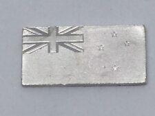 Miniature 925 Silver Flag Ingot Mini Bullion Bar Franklin Mint 1976 New Zealand