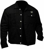 Men Yellowstone Cole Hauser Rip Wheeler Stylish Cowboy Black Cotton Jacket