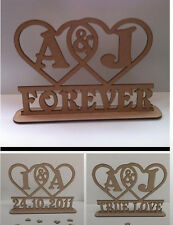 Personalised Free standing wedding table decoration stand Love Always Forever
