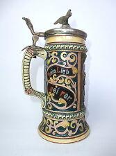 ausgefallener Chope à bière avec Dicton um 1900 cruche