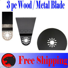 3 Wood Metal Oscillating MultiTool Saw Blade For Fein Multimaster Milwaukee Voss