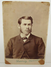 Cabinet Photo Very Good Looking Young Man 1800s w/ Name Civil War Era