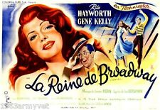 LARGE NEW Media Room Vintage French Movie Poster Reine de Broadway Gene Kelly