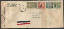 Haiti covers 1945 cens Airmailcover to Curacao