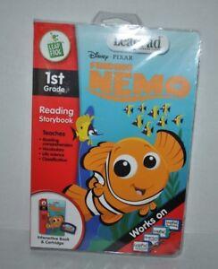 LeapPad Disney PIXAR Finding NEMO 1st Grade Works on Interactive Book & Cartridg