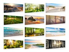 Wandbilder Wohnzimmer XXL Landschaft Strand Meer Wald Made in Germany! 100x40 cm