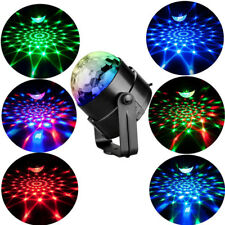 LED Stage Disco Ball Sound Activated Party Lights With Remote Control Strobe 3W