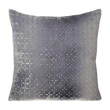 "Kevin O'Brien Petal Flower Velvet 20"" Square Decorative Pillow Grey $390 G2048"