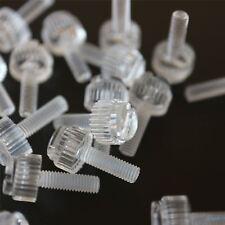 60 x tornillos de mariposa de plástico acrílico estriados y con ranura, M3x10mm