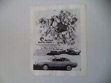 advertising Pubblicità 1969 FIAT 850 BERTONE RACER TEAM/BERLINETTA/CONVERTIBILE