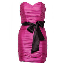 Womens Rare Bandeau bow ribbon dress in pink Chrl165 Size 6 RRP £56.00