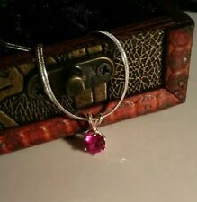 Stunning new red ruby pendant necklace.