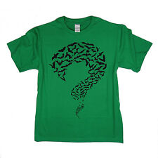 RIDDLER - BATS - Big Bang Theory inspired Sheldon Cooper T Shirt - 100% Cotton