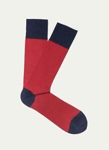 HACKETT Merino Wool Blend Socks - M/L - Red - Brand New With Tags