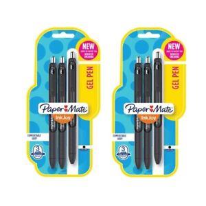 Papermate Ink Joy Gel Pens 0.7mm Medium Black Ink - 2 sets of 3-pack (= 6 Pens )