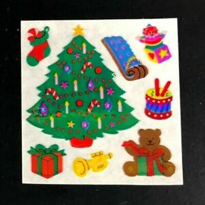 Vintag Sandylion OPAL PEARL Sticker Christmas Tree Winter Holiday RARE Pearly