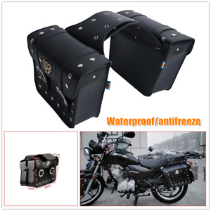 2×Motorcycle Saddle Bag Universal Side Hanging Luggage Panniers Storage Tool Bag
