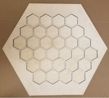 Settlers of Catan Board Game Frame 3/8 x 23 1/2 x 23 1/2 with 30 Hexagons
