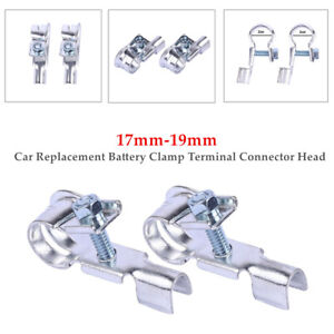 2Pack M8 Car Replacement Battery Clamp Terminal Quick  Connector Head 17mm-19mm